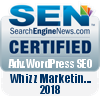 Wordpress SEO Certified - Whizz Marketing 2018